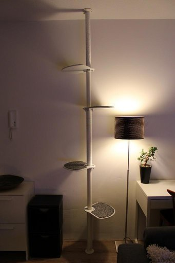 Cat hack cat tower scratching post ikea hackers for Muebles para gatos ikea