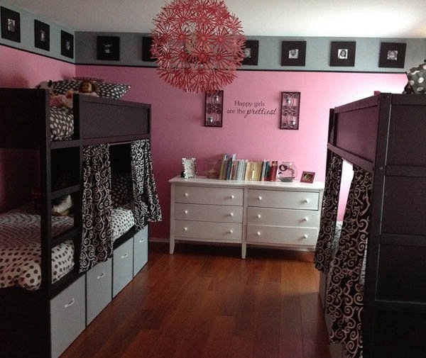 Black And White Bunk Beds