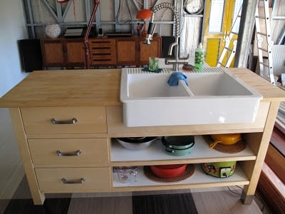 Domestic Bliss Thanks To Varde Domsjo Sink Hack Ikea