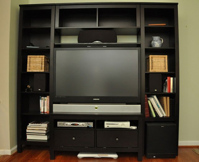 Custom Hemnes Entertainment Center Ikea Hackers Ikea