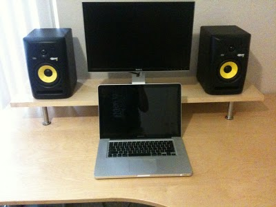 Monitor And Speaker Desk Platform Ikea Hackers