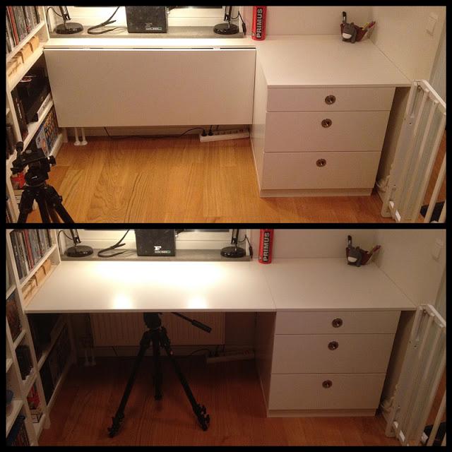 The Foldable Udden Desk Ikea Hackers Ikea Hackers