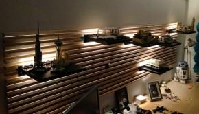 ikea billy lighting. indirect lighting for mandal headboard using lego ikea billy l