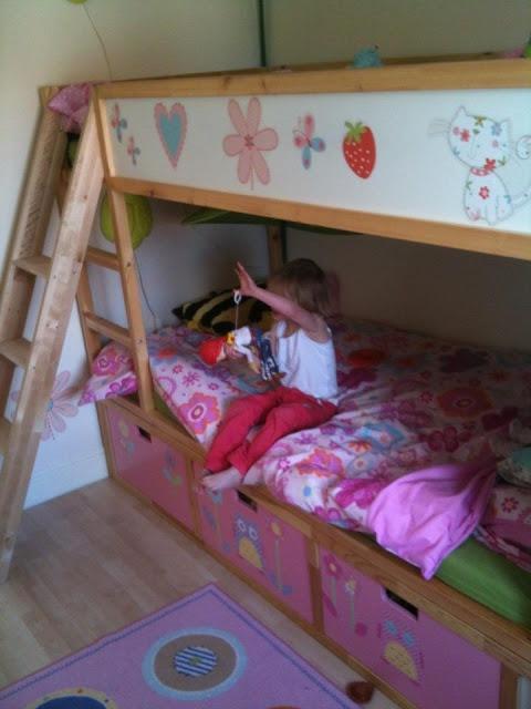 Vintage Fairy princess treehouse KURA Bunk Beds with STUVA storage
