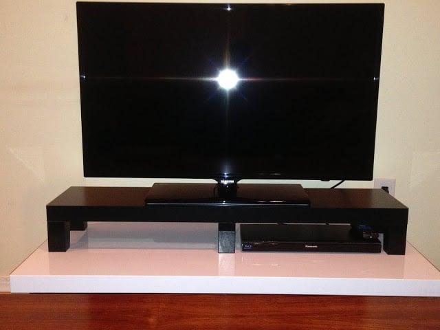 lack tv riser ikea hackers ikea hackers. Black Bedroom Furniture Sets. Home Design Ideas