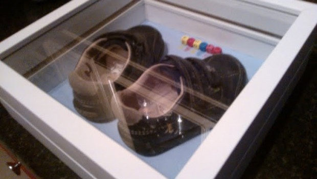 Baby S First Shoes Display Box Ikea Hackers Ikea Hackers