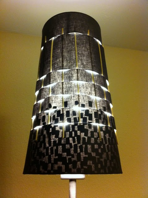 Skewered Ikea Lamp Shade
