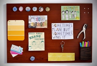 How to make a woodgrain magnetic memo board and tool for Magnetic board for kids ikea