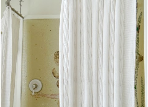 Turn A Throw Blanket Into A Shower Curtain Ikea Hackers