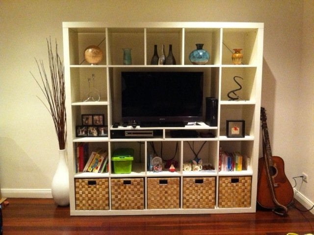 Expedit unit for smaller tv ikea hackers ikea hackers - Ikea tv wand ...