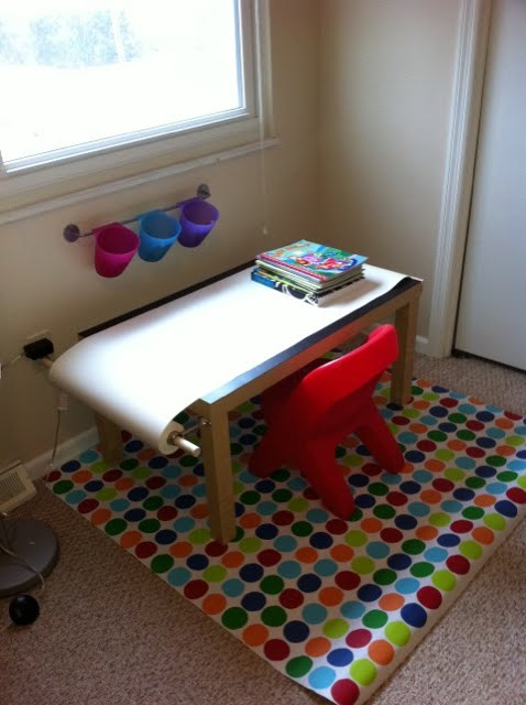 kids art table ikea style ikea hackers. Black Bedroom Furniture Sets. Home Design Ideas