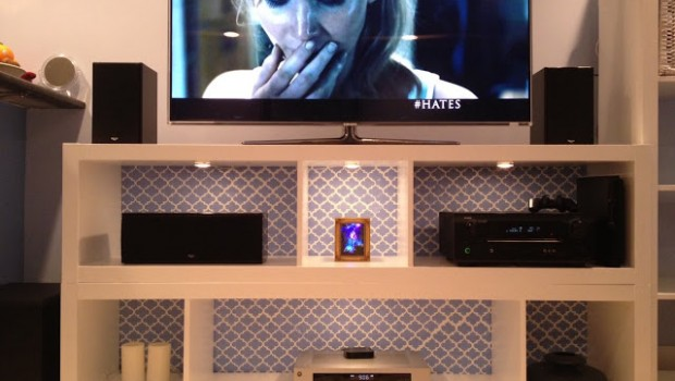 Expedit bookshelves to fabulous tv stand ikea hackers for Ikea expedit bookcase tv stand