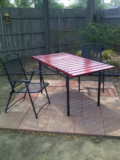 non gormless picnic table ikea hackers ikea hackers. Black Bedroom Furniture Sets. Home Design Ideas