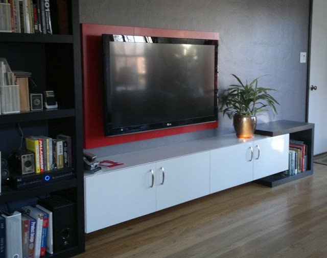 Large Wall Mounted Tv Unit