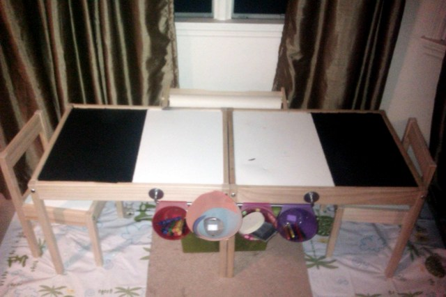 Children S Arts And Crafts Table Ikea Hackers