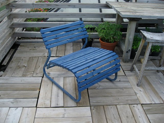 blue deck chairs ikea hackers ikea hackers. Black Bedroom Furniture Sets. Home Design Ideas