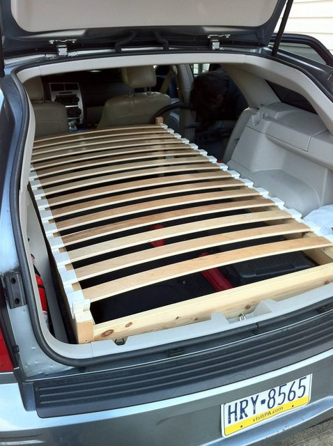 Hacking A Bed Into The Back Of A Station Wagon Ikea Hackers