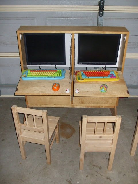 Kids Shoebox Dual Computer Cabinet Ikea Hackers Ikea