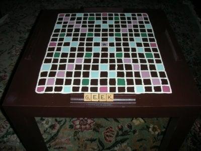 Genial Scrabble Table