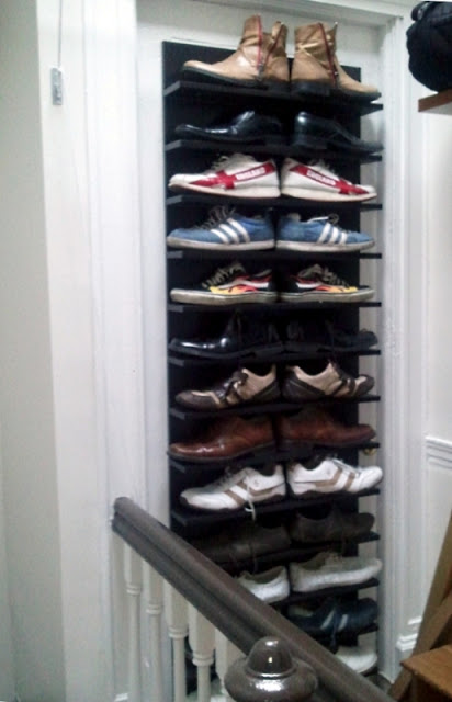 unique shoe storage display solution ikea hackers ikea hackers. Black Bedroom Furniture Sets. Home Design Ideas