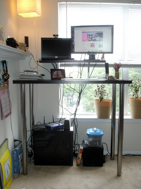 Simple And Reversible Standing Desk Ikea Hackers Ikea