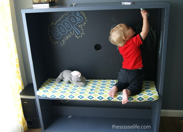 best tv stand turned kids corner ikea hackers. Black Bedroom Furniture Sets. Home Design Ideas
