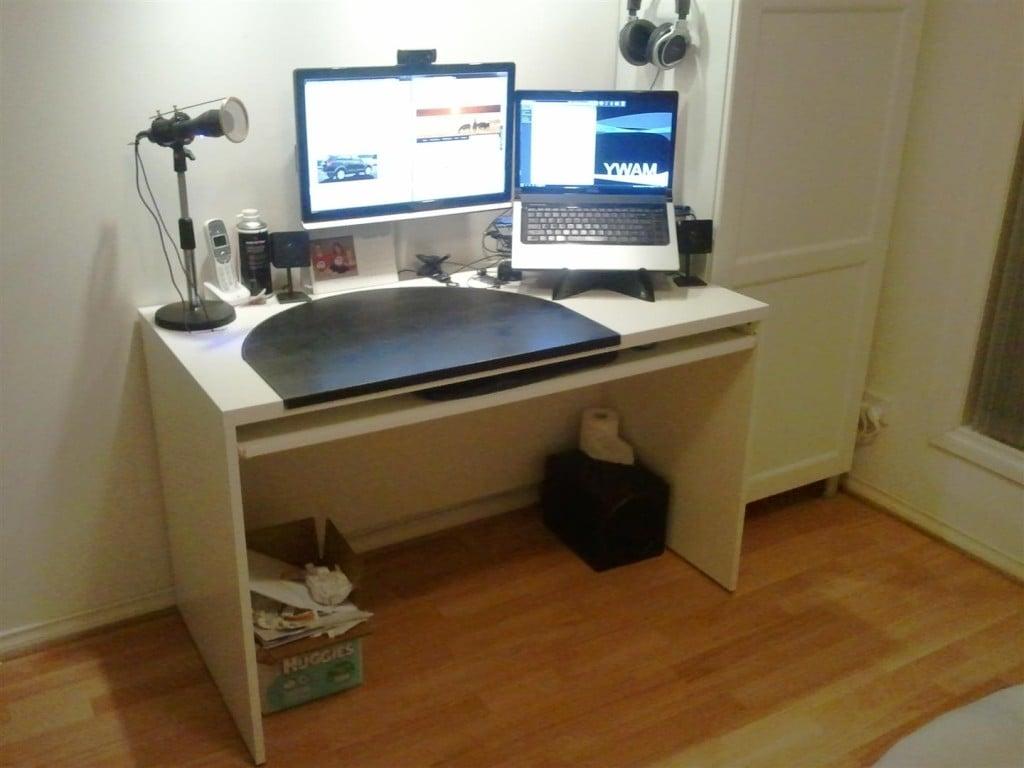 Add A Keyboard Tray To A Besta Desk Ikea Hackers Ikea