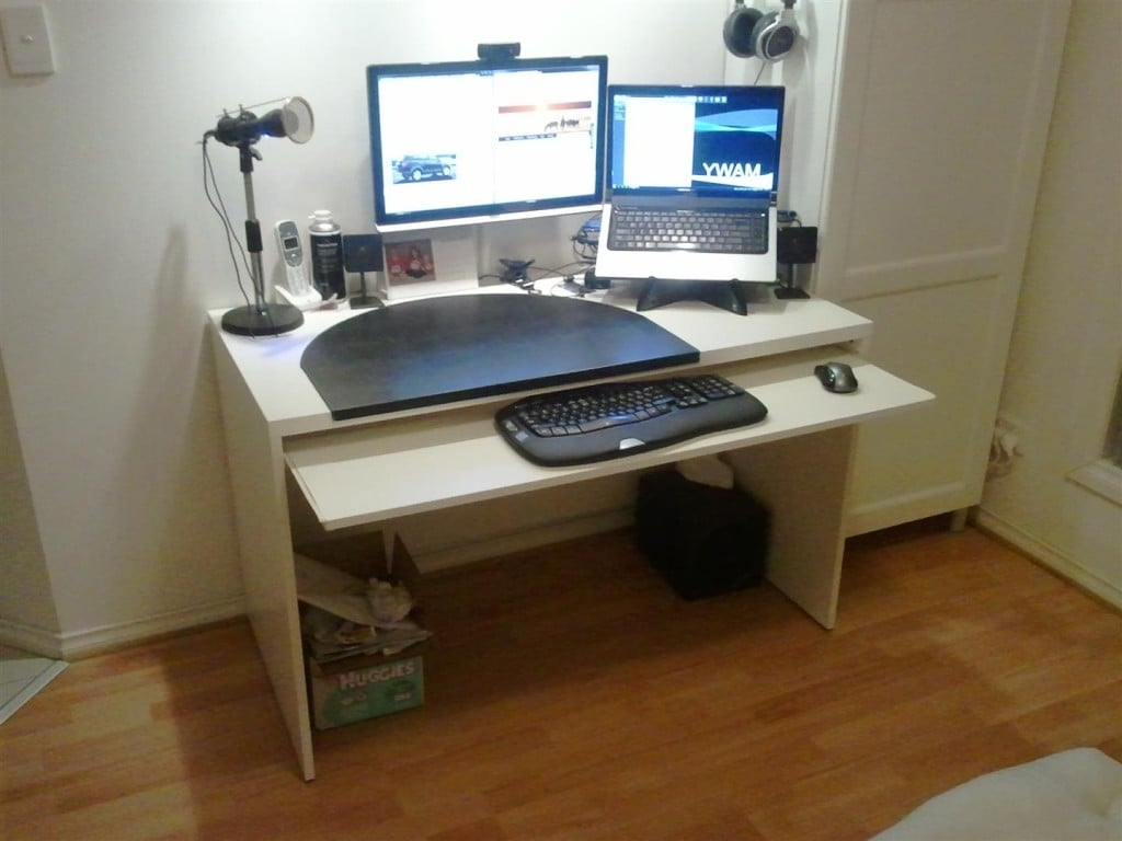 Add A Keyboard Tray To A Besta Desk