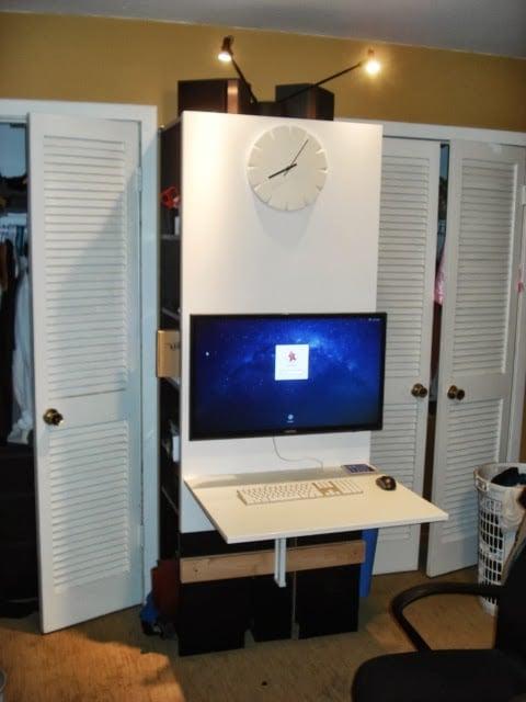 Compact Bedroom Workstation Ikea Hackers