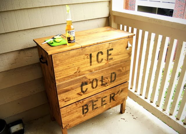 IKEA Summer hacks - TARVA Ice Chest hack