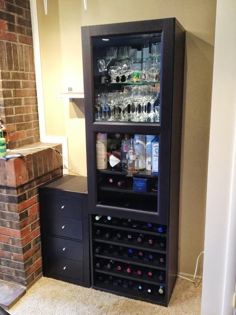 Besta Wine Rack And Liquor Cabinet