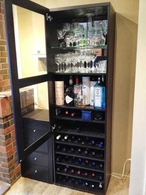 Each Shelf Has 6 Rods Which Means It Can Hold 7 Bottles The Are Ed With 1 75 Between Rod And 2 25 From Last To Side Wall