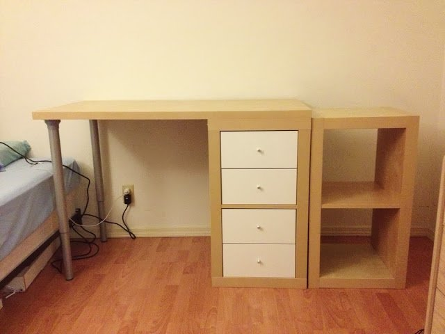 building a custom ikea desk from an expedit shelf linnmon table top ikea hackers. Black Bedroom Furniture Sets. Home Design Ideas