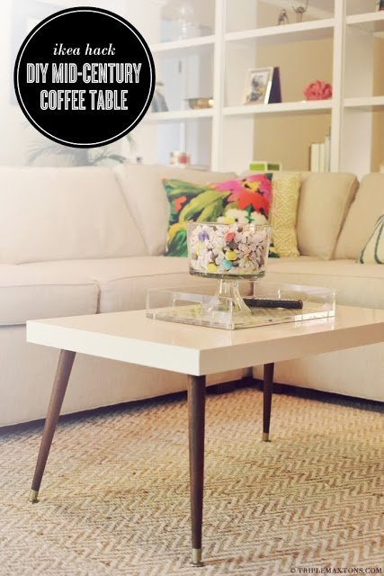 Ikea Hack - DIY Mid-Century Modern Coffee Table by Triple Max Tons 2b-798404
