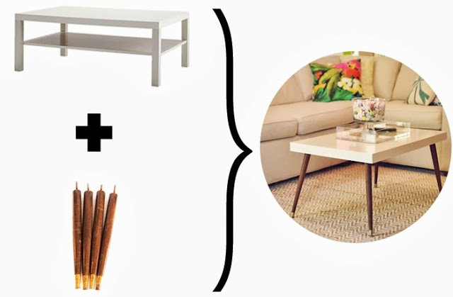 Lack Turned MidCentury Modern Coffee Table  IKEA Hackers  IKEA Hackers -> Table Billard Fabrication Ikea