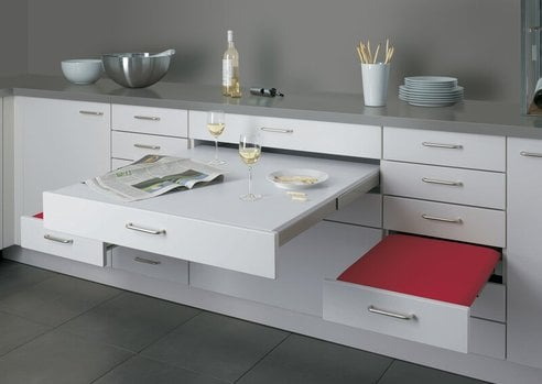 kitchen cabinet pull out table