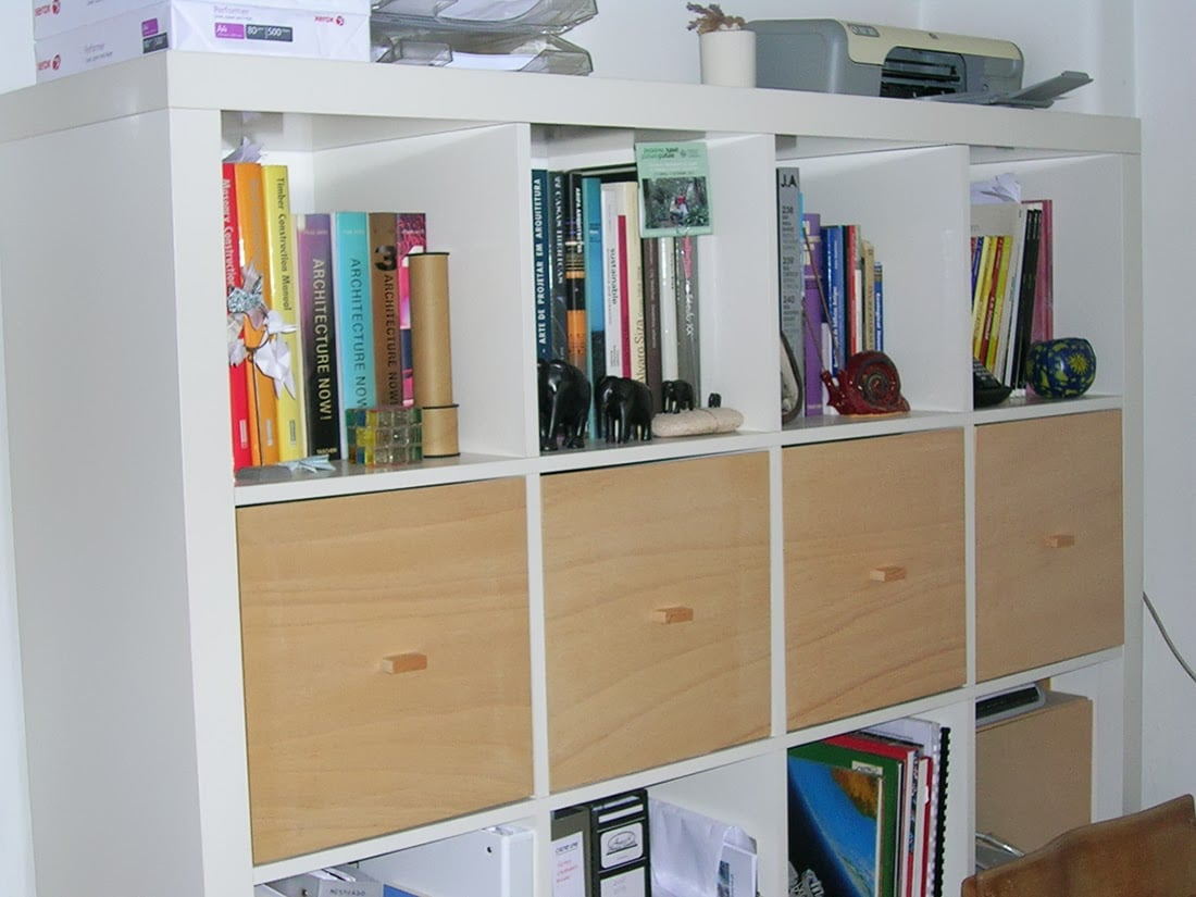 Expedit homemade tops ikea hackers ikea hackers - Meuble a cases ikea ...