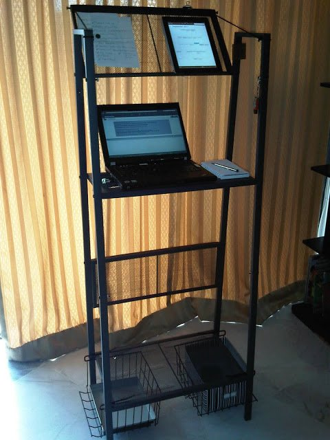 Standing Workstation Inexpensive Yet Delightfully Practical Ikea Hackers