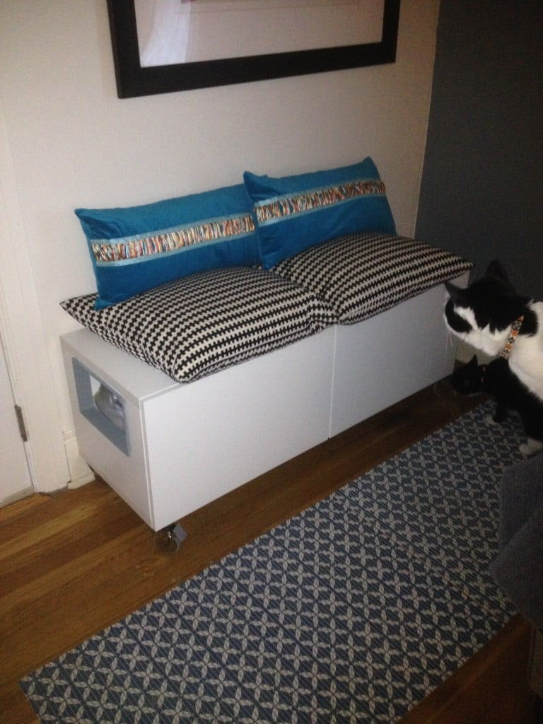 two hidden cat litter boxes ikea hack