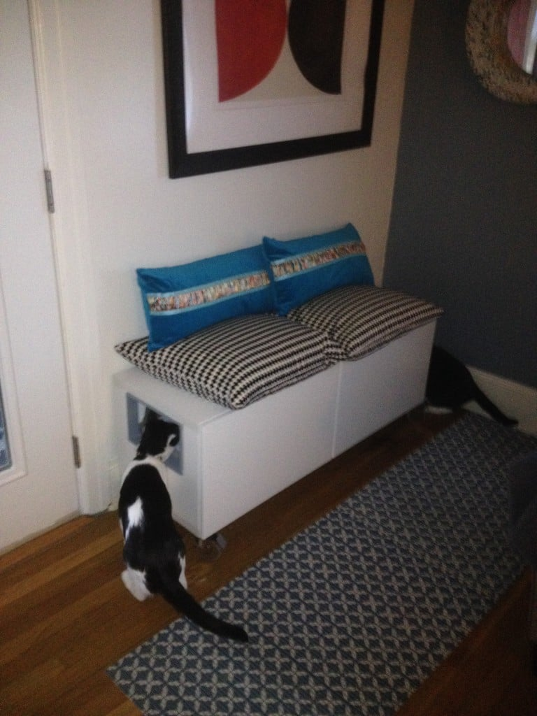 Ikea hack besta storage cabinet hidden cat litter boxes - Sofas para gatos ...