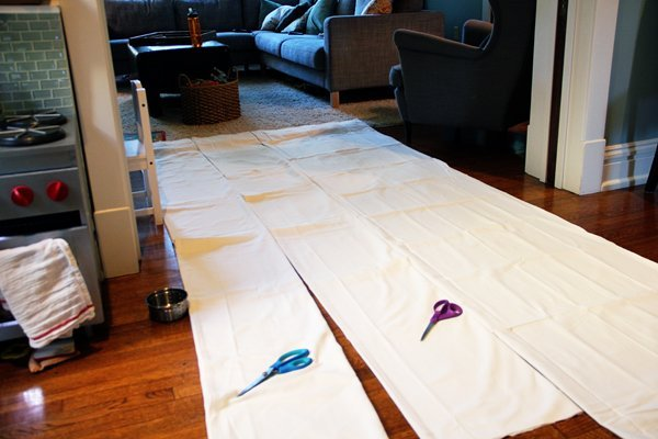 DIYStipedCurtains-Hemming