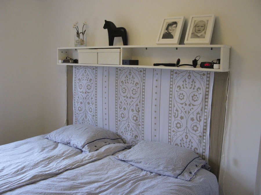 Headboard Made From Benno Dvd Tower Ikea Hackers