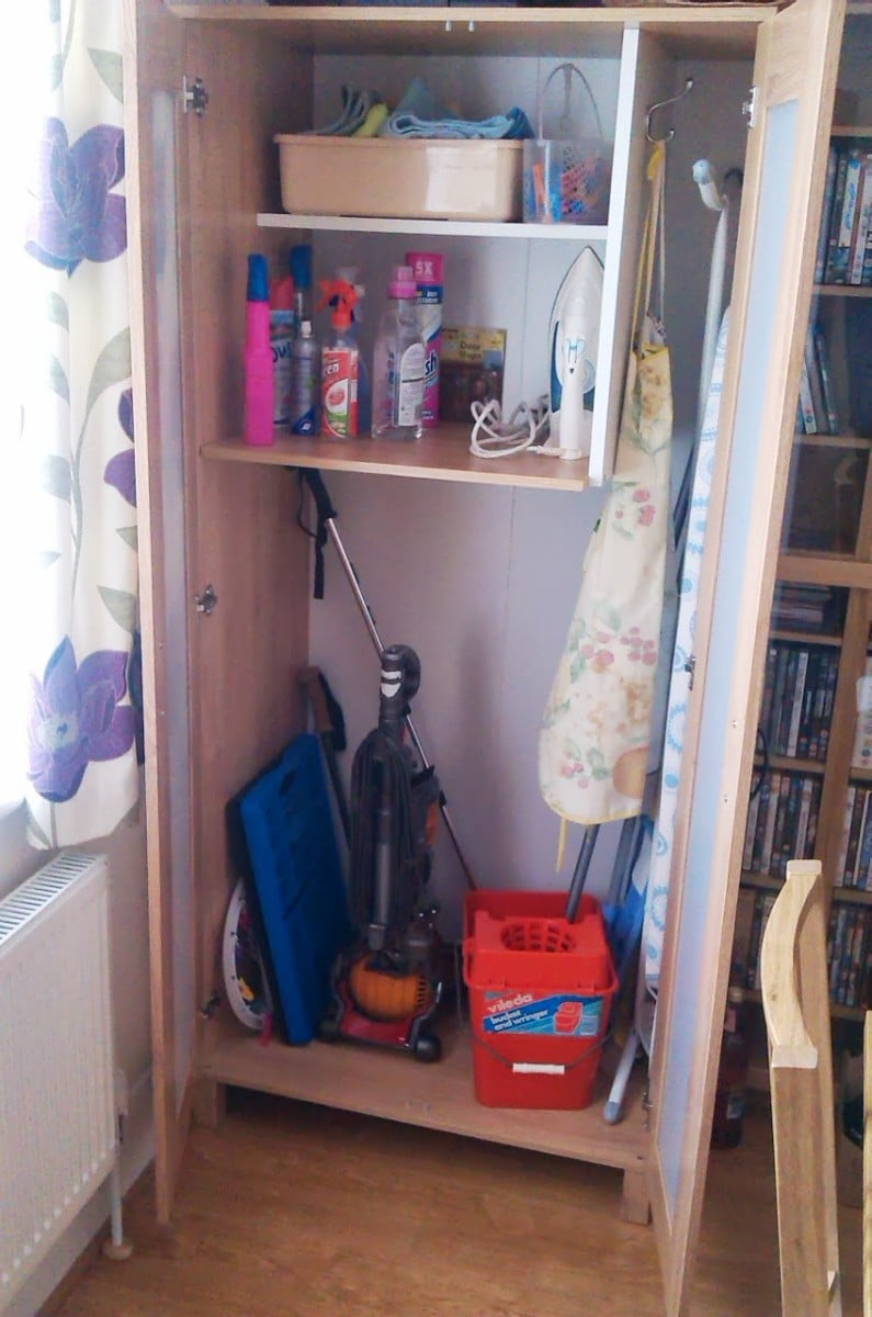 austmarka wardrobe  broom cupboard ikea hackers