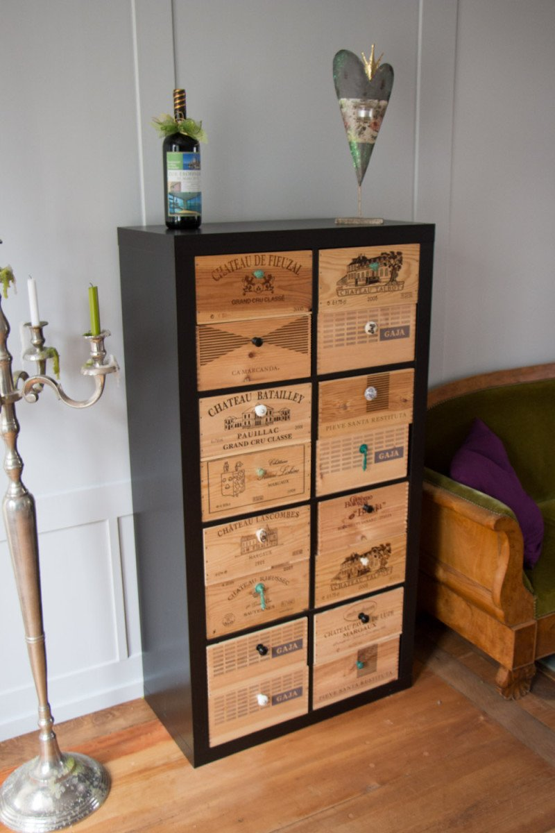 spotted in switzerland expedit with wine styled drawers. Black Bedroom Furniture Sets. Home Design Ideas