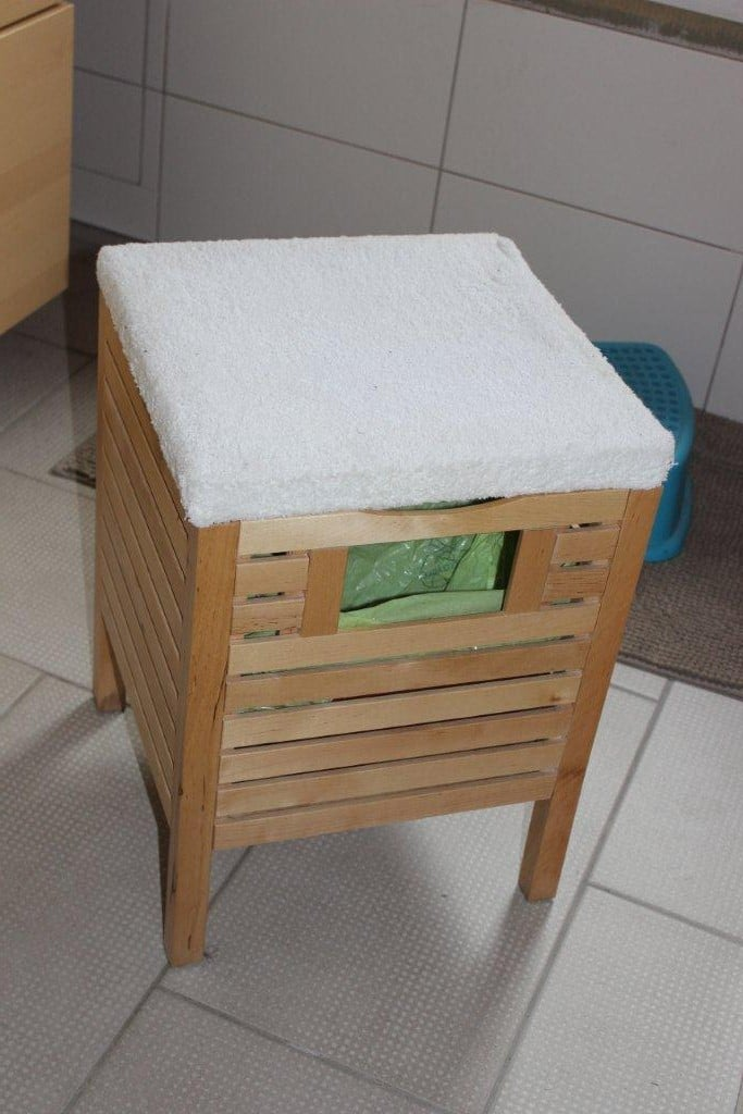 bathroom rubbish bin stool hack ikea hackers ikea hackers. Black Bedroom Furniture Sets. Home Design Ideas