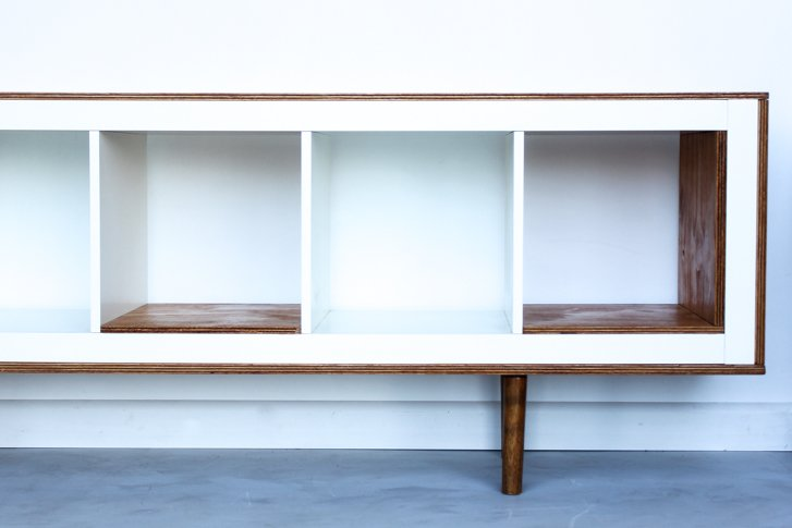 Ex ikea upright bookcases now mid century modern sideboards ikea hackers - Ikea hacker en francais ...