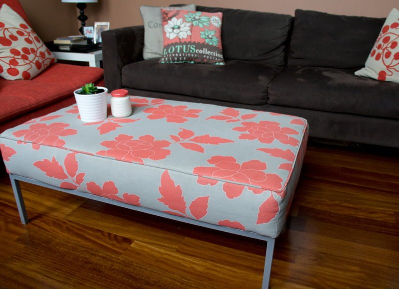 J N Taylor And Co Klubbo Turns Lovely Peony Printed Ottoman By Brittany Zeller Holland