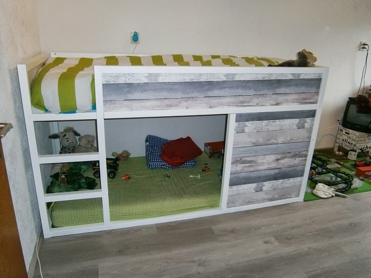 kura bed with reclaimed wood ikea hackers ikea hackers