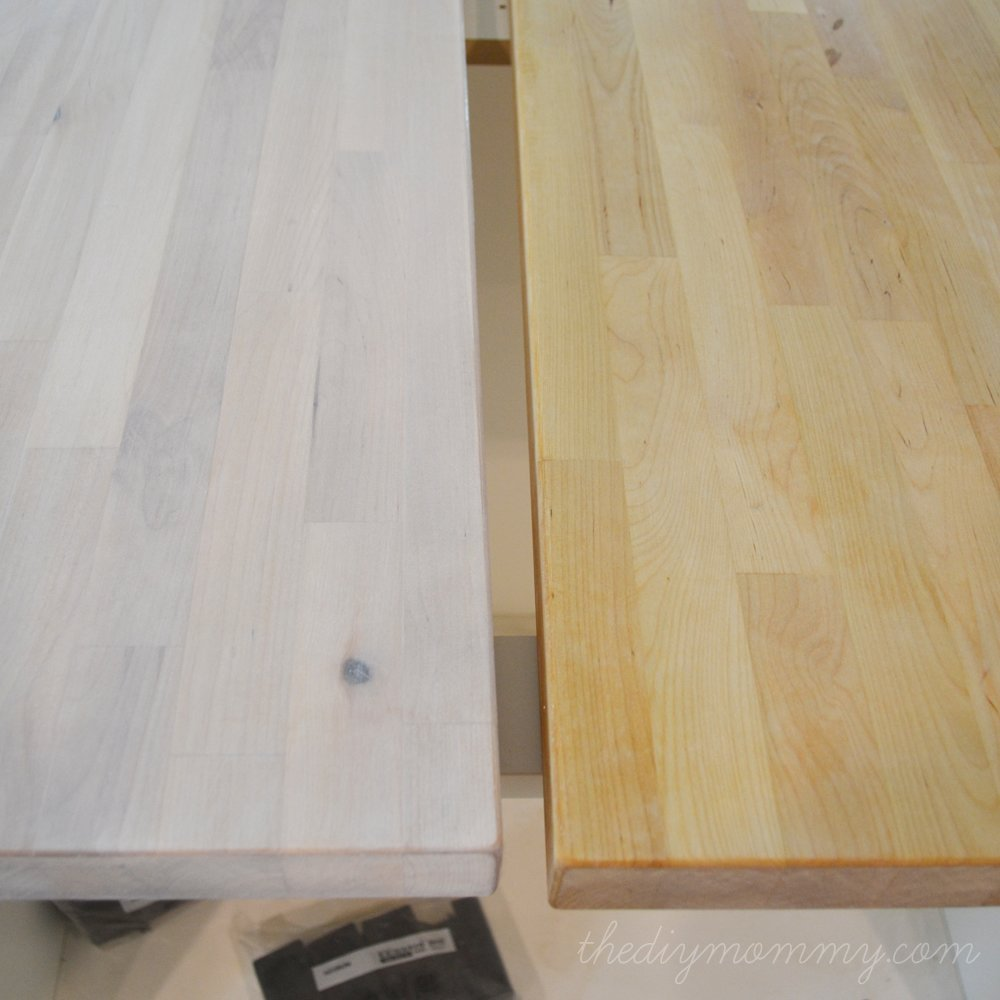 White Washed Birch Kitchen Cabinets