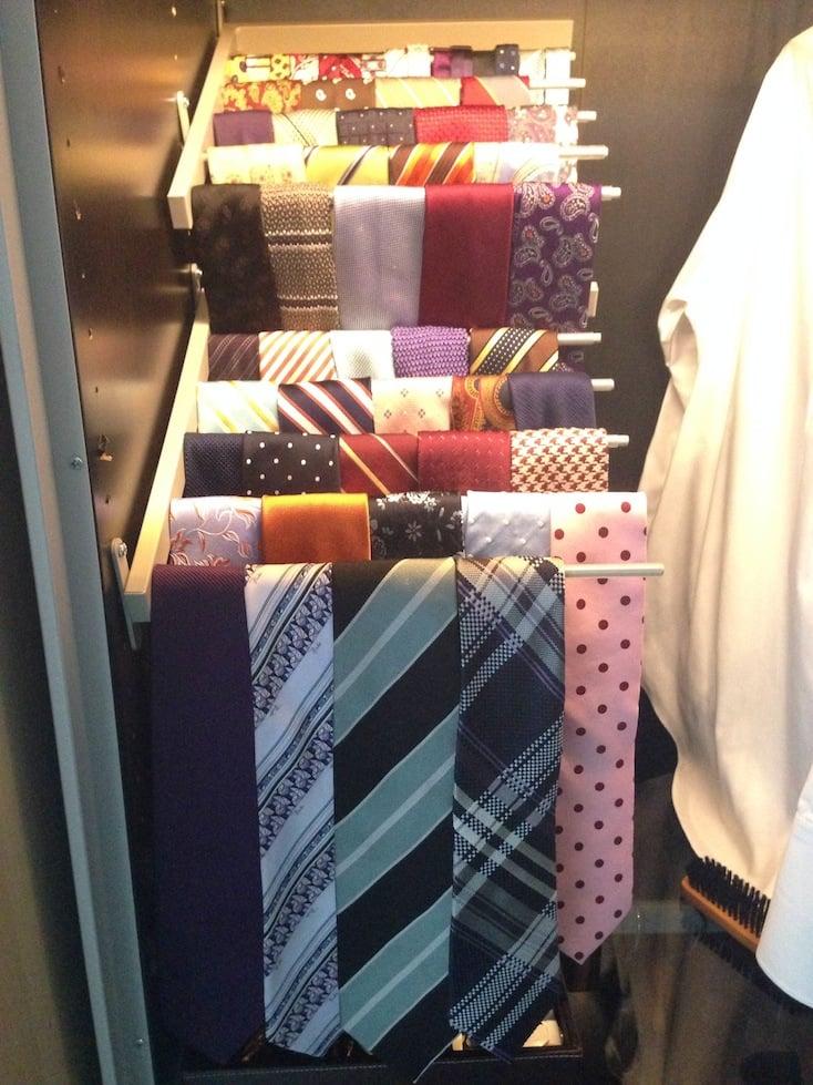 tiered tie rack